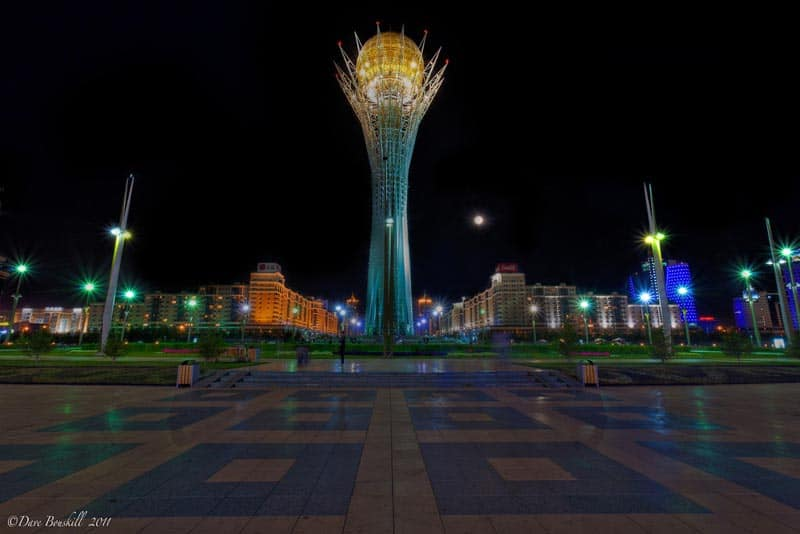 the bayterek tower centrepiece of Astana, Kazakhstan
