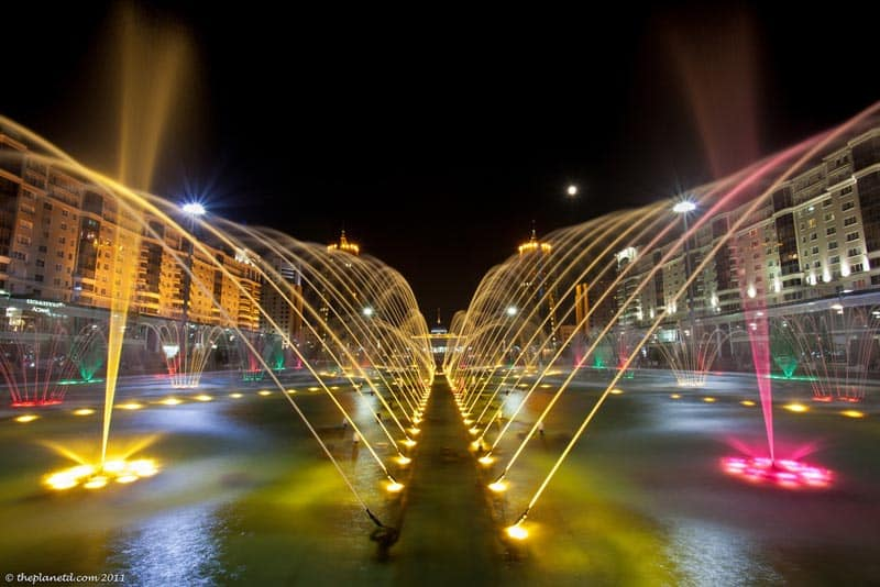 astana fountains in kazakhstan