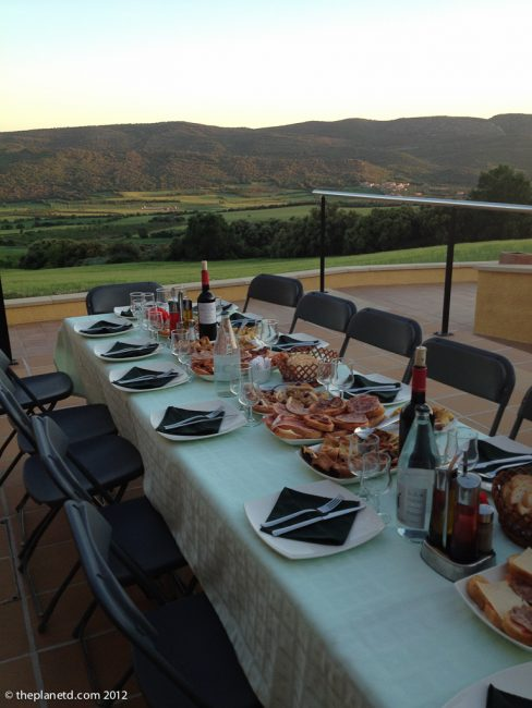dinner at the parc astronomic montsec