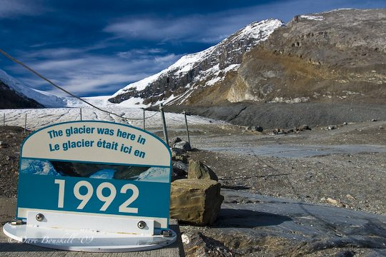 Athabasca Glacier Retreat since 1992