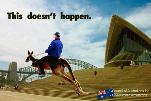 aussie sterotypes kangaroo
