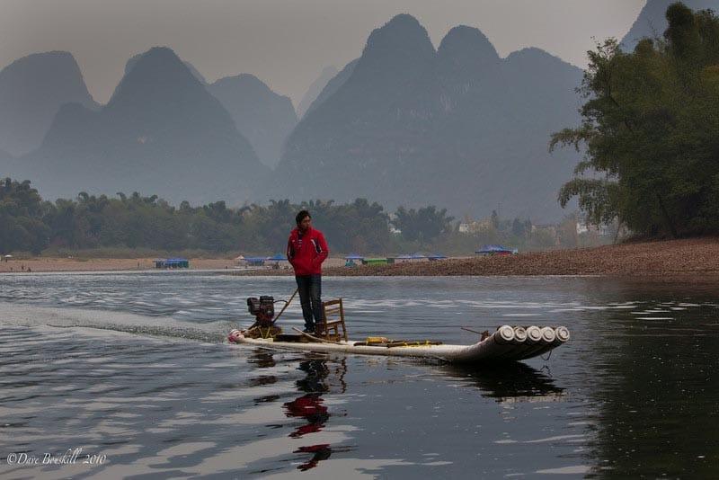 bamboo rafting li river