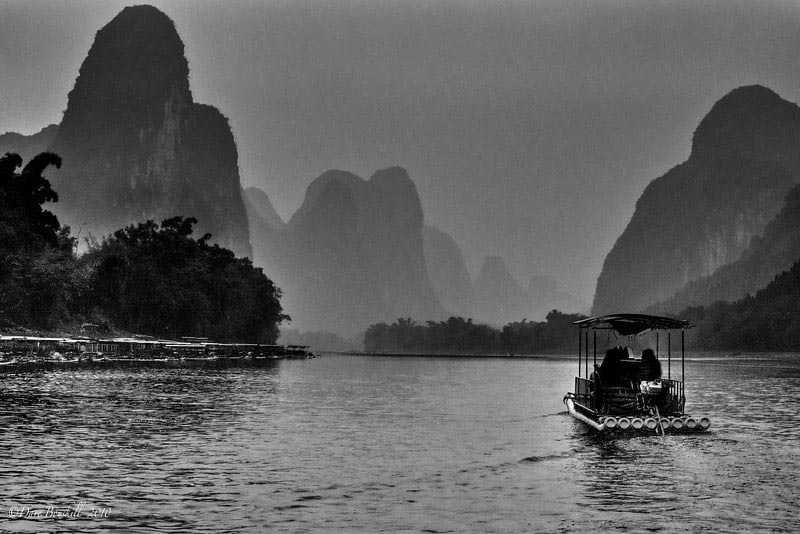 li river bambo raftin gchina