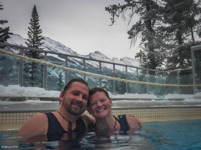 banff winter activities hot springs