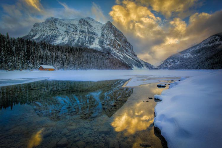 early spring on lake louise