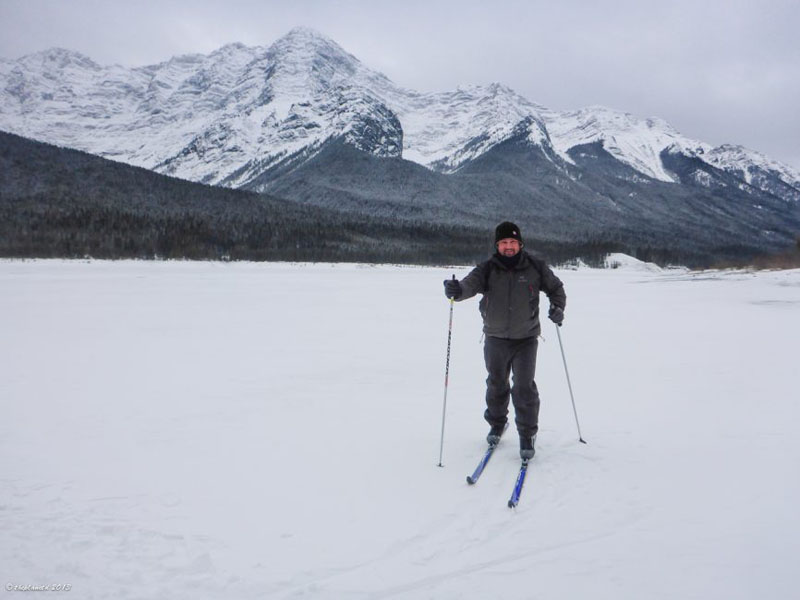 banff lake louise skijoring