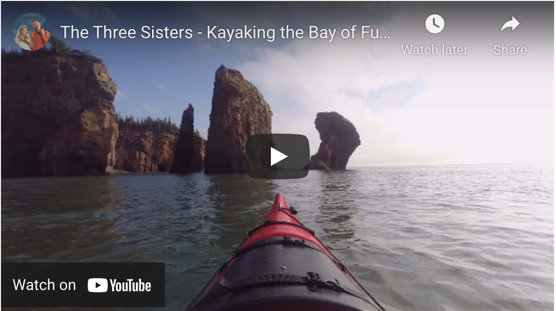 kayaking the bay of fundy
