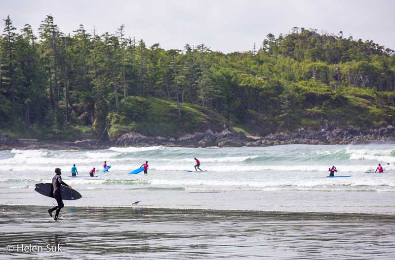 surfing tofino british co.umbia
