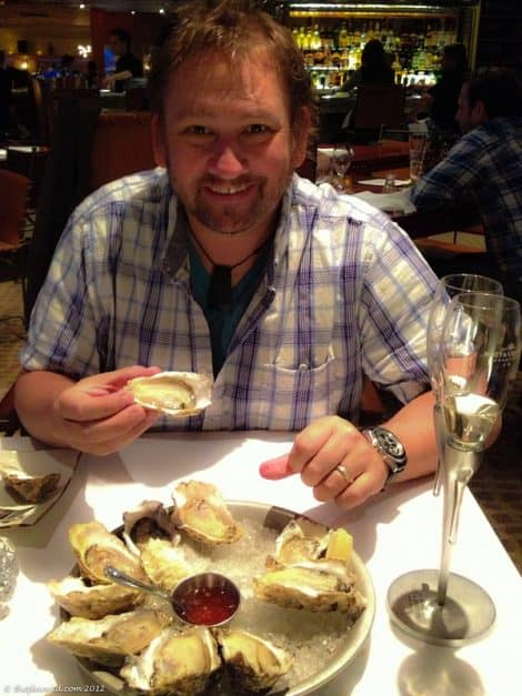 oysters and dave at bearfoot bistro