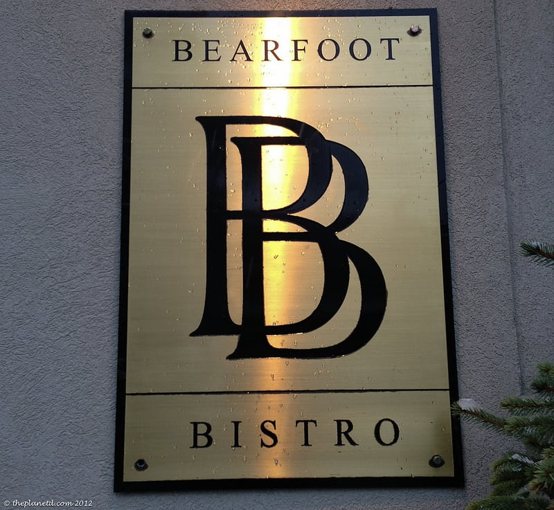 bearfoot bistro sign