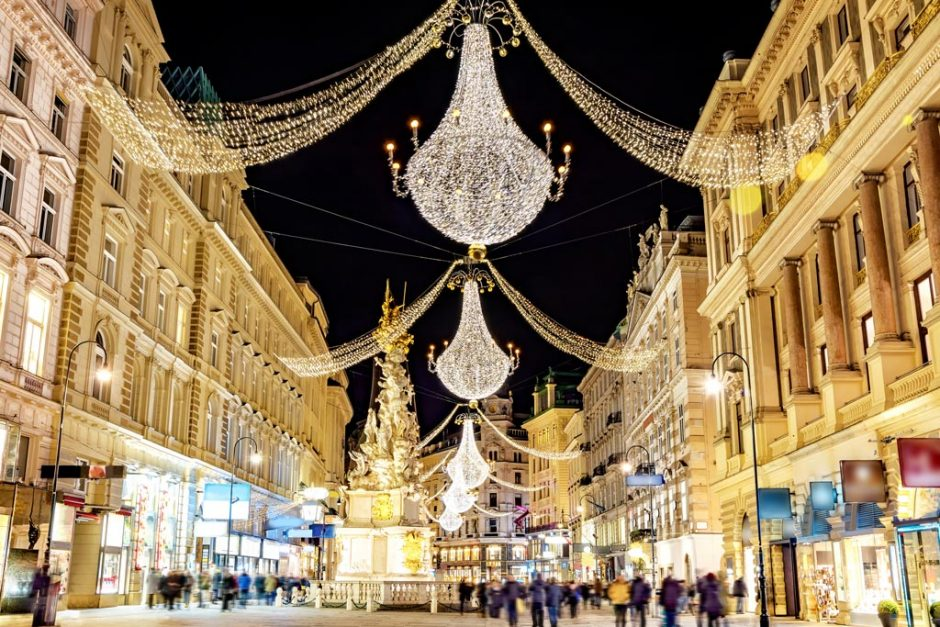 beautiful cities in europe vienna christmas