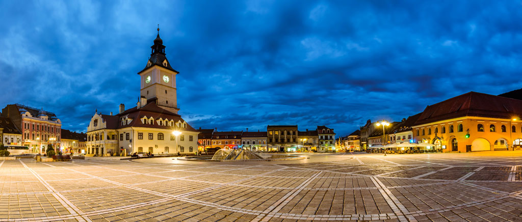 brasov square is a beautiful european city