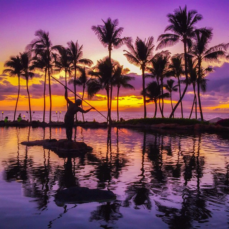 sunset pool in maui