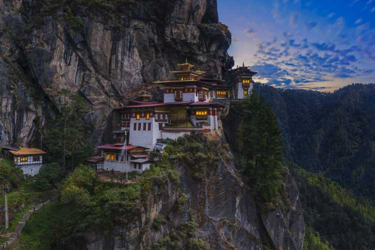 beautiful places in the world | tiger's nest monastery bhutan