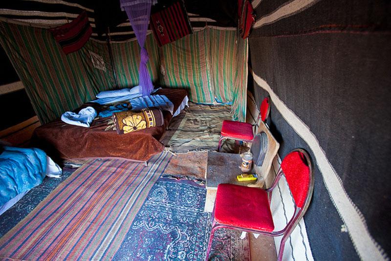 inside bedouin tent
