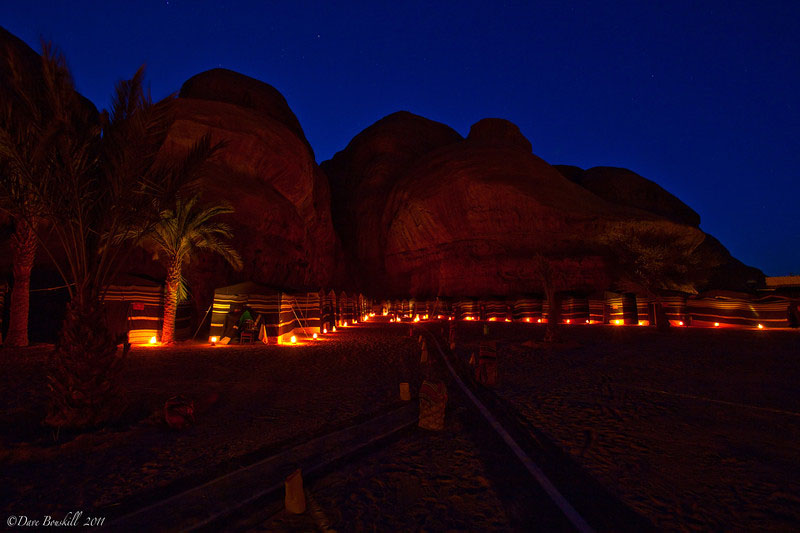 bedouin camping wadi rum night