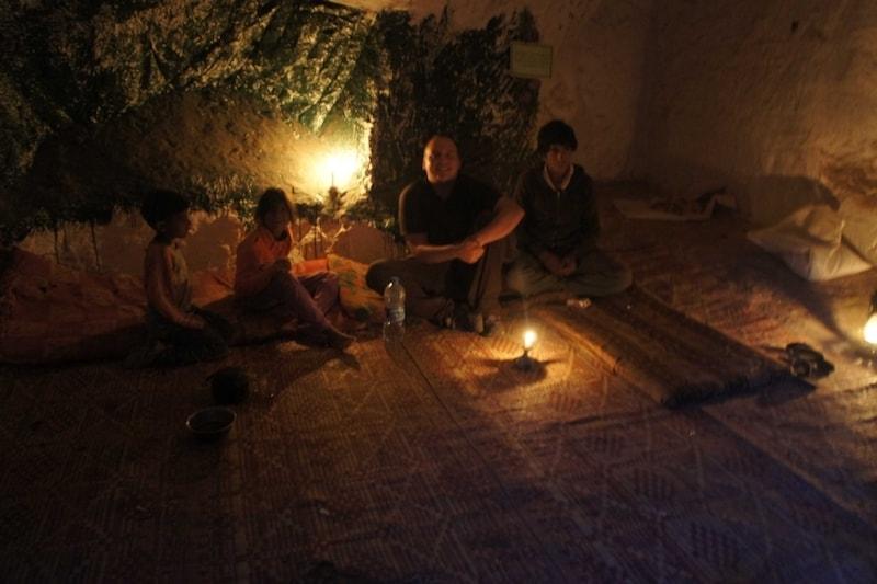 cave bedouin children jordan