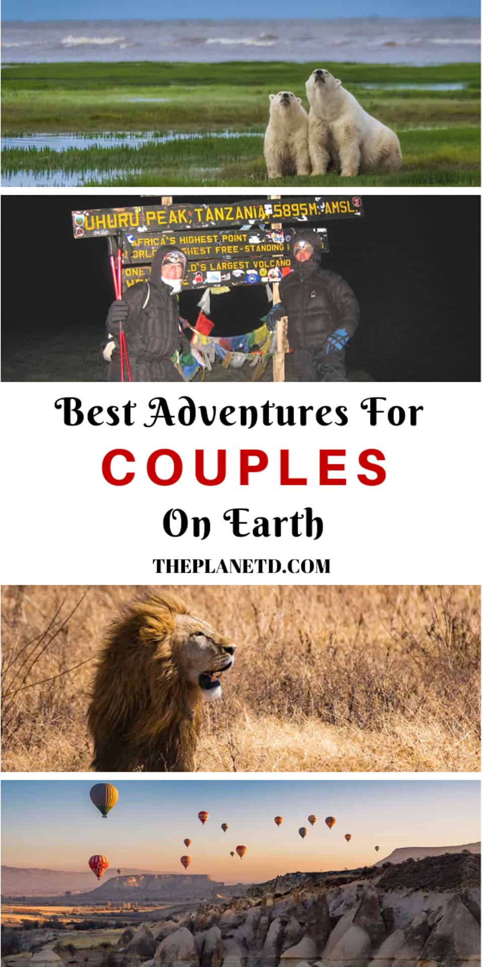 Best adventures for couples