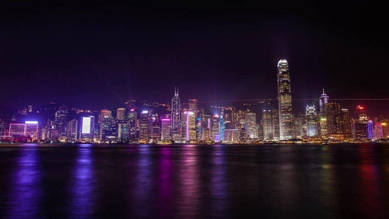 best skylines in the world hong kong