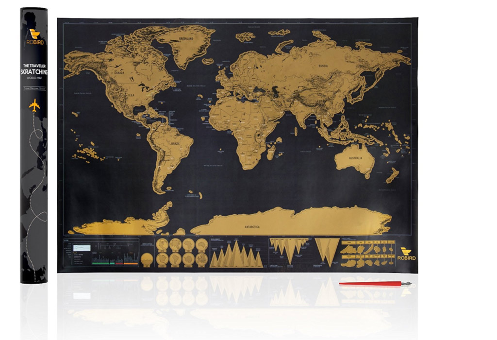 best gifts for travelers | scratch map