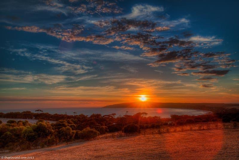 kangaroo island sunset