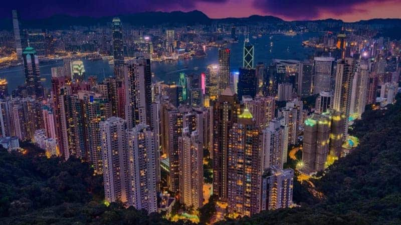 best city skylines in the world hong kong