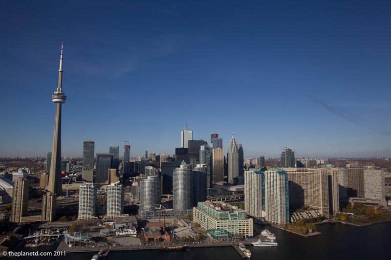 skyline view of Toronto