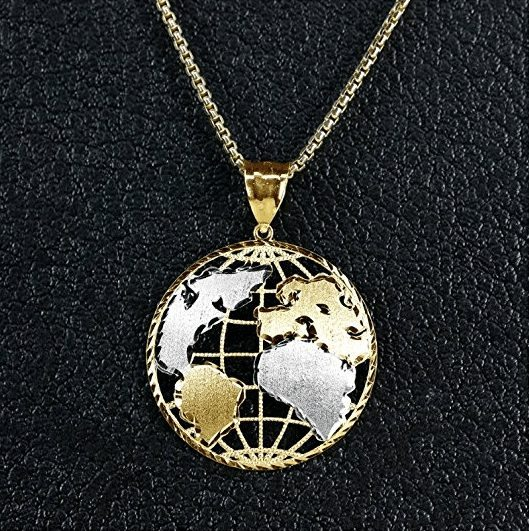 travel jewelry | world pendant