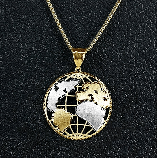 best gifts for travel world necklace