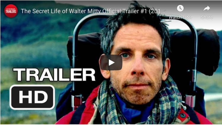 traveling movies | walter mitty