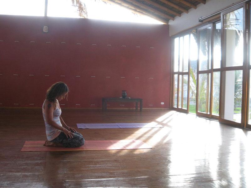 mat in yoga class