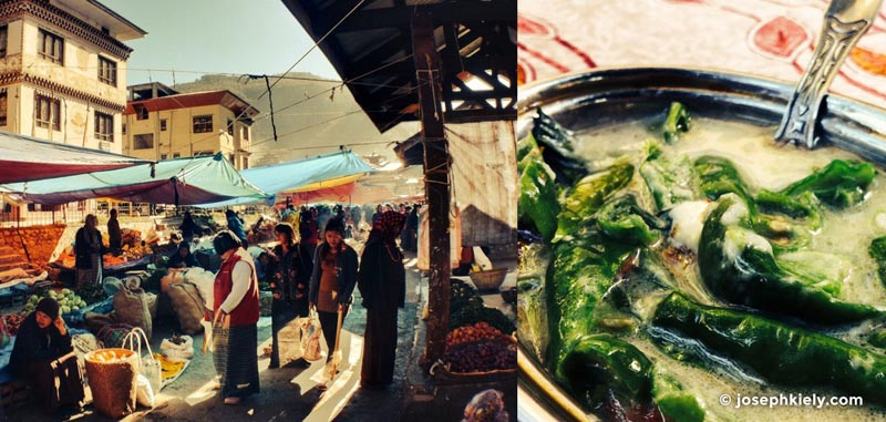 fresh markets in bhutan