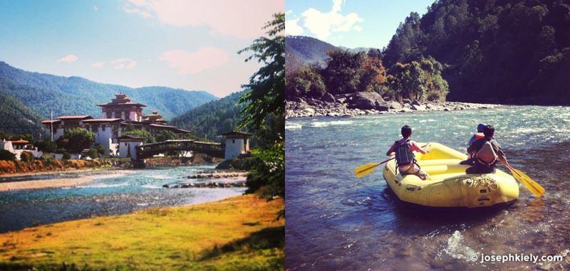 bhutan rafting