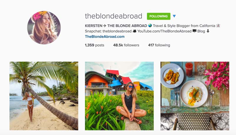 blonde abroad instagram travel photographers