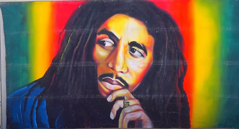 bob marley jamaica icon