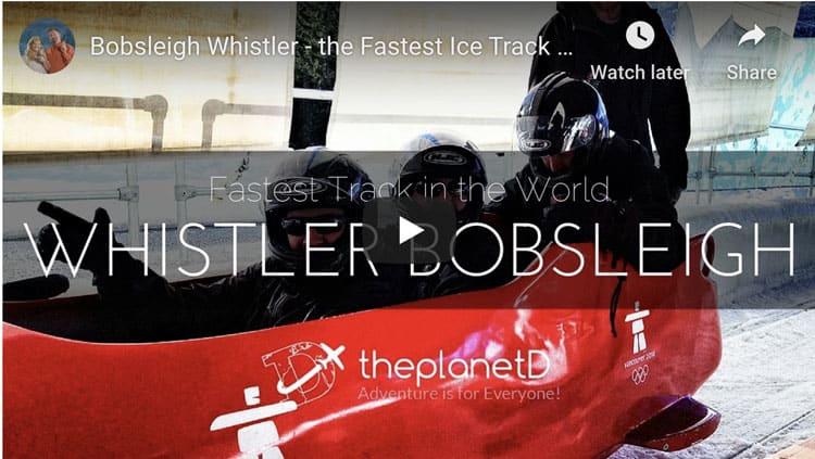 bobsled whistler video