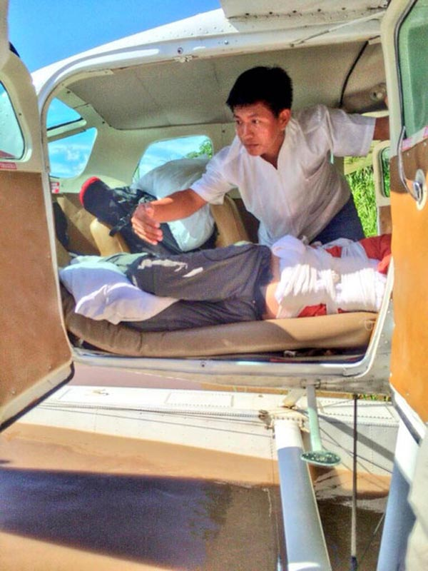 medical evacuation for back injury