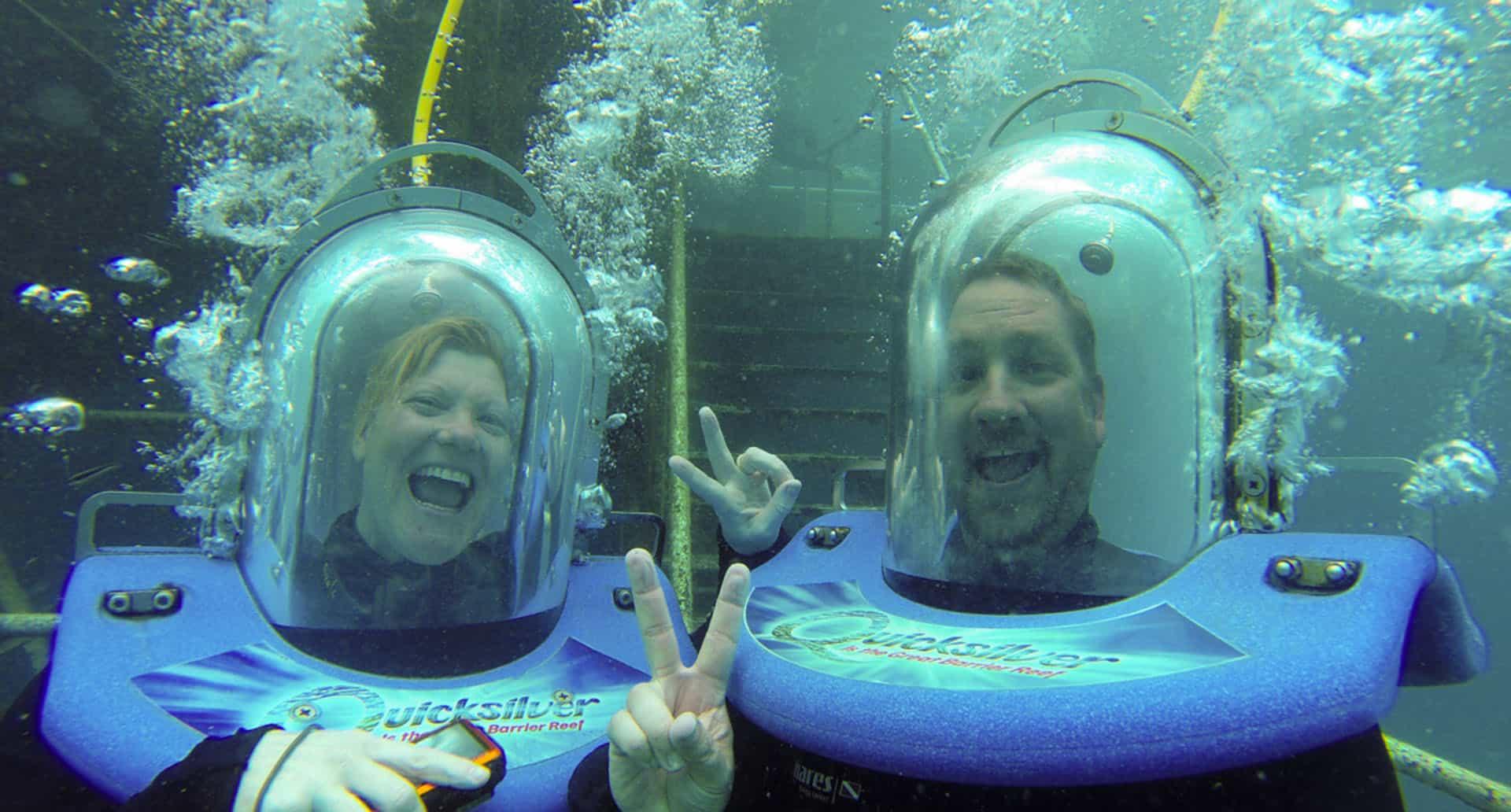 helmet dive great barrier reef