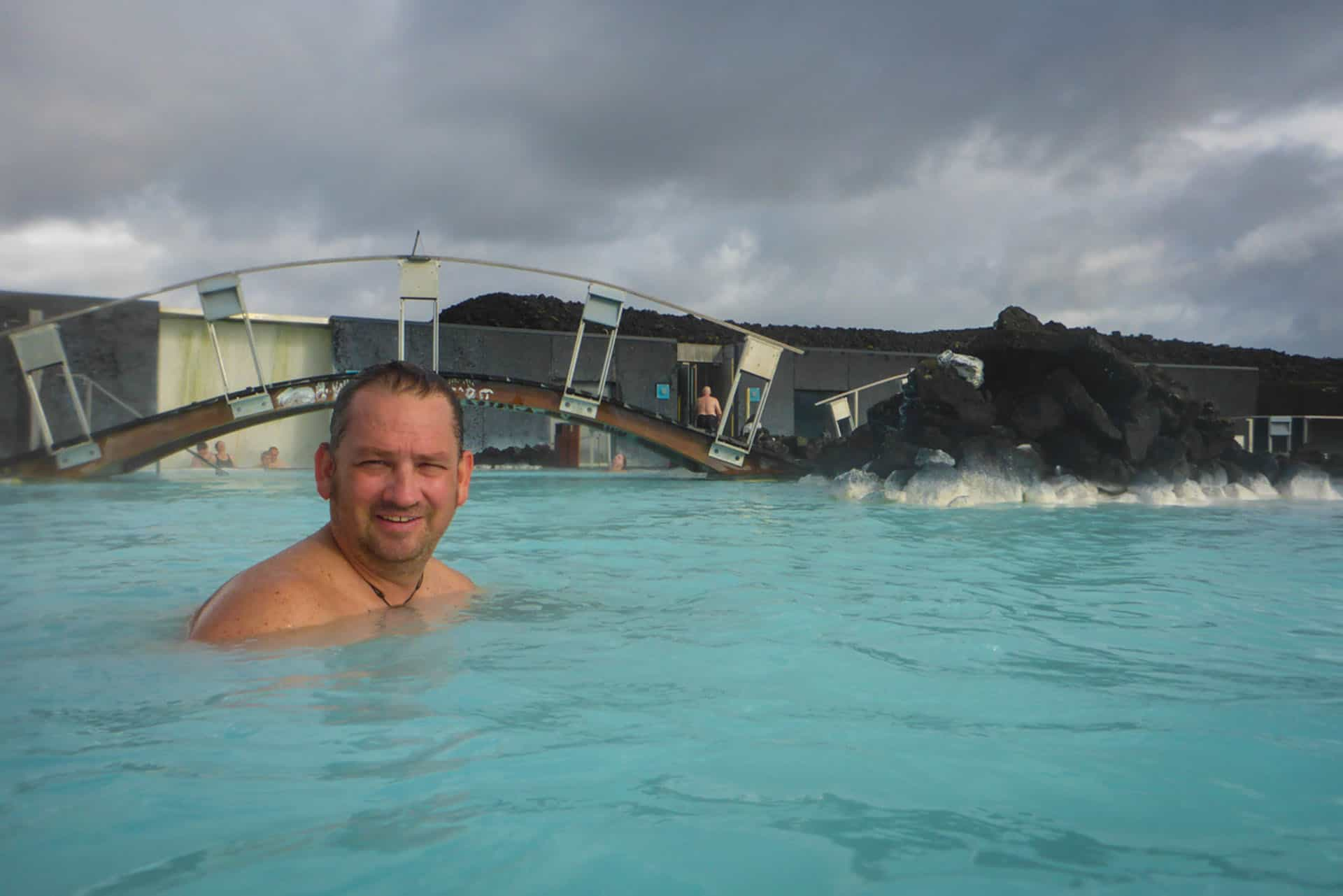 dave at blue lagoon in iceland