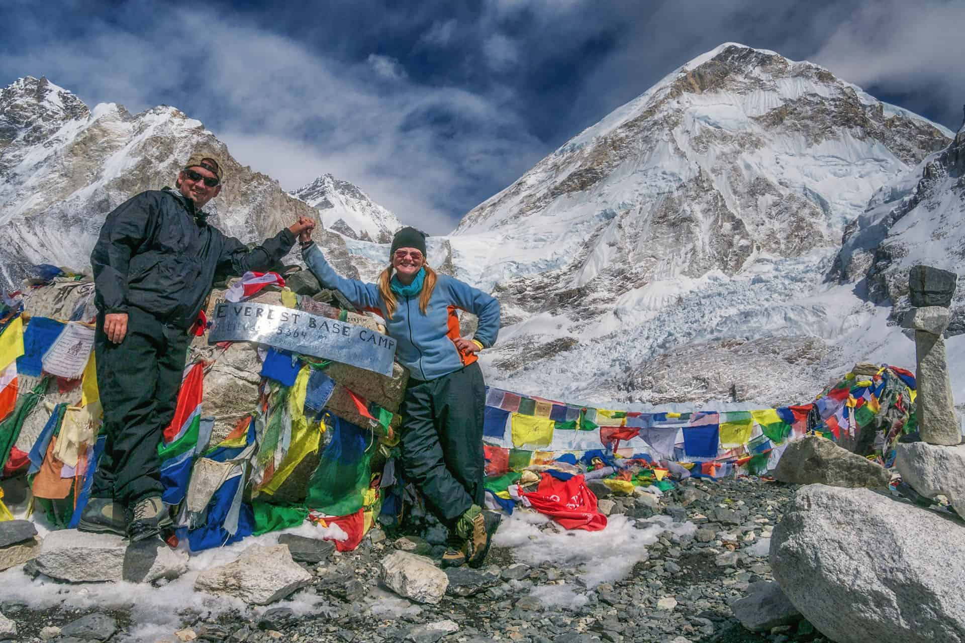 dave and deb at mount everest base camp