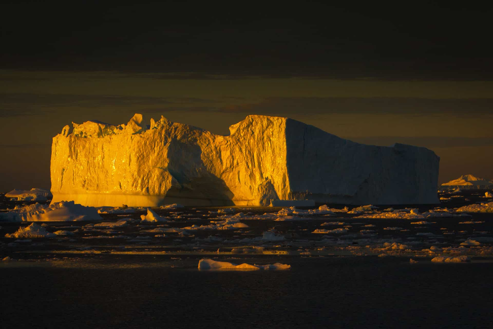 iceberg at sunset greenland