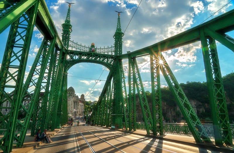liberty bridge sun
