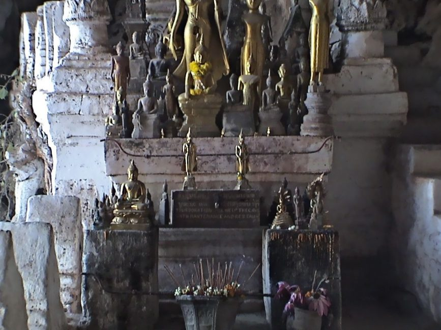 Altar of Buddhas at Laos' Pac Ou Caves