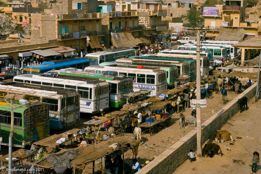bus-station-jaisalmere-india