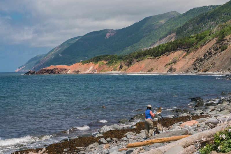 scenic view on the Cabot Trail nova scotia