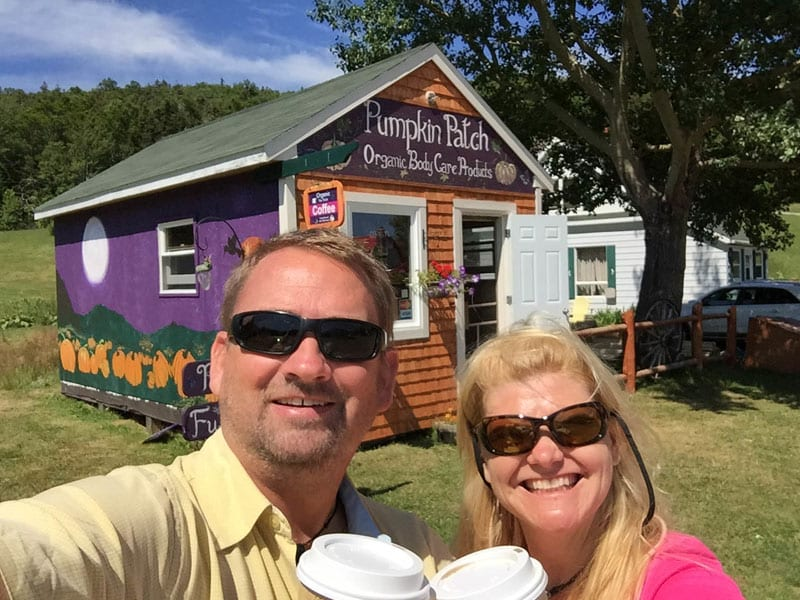 pumpkin patch coffee located on the Cabot Trail Nova Scotia