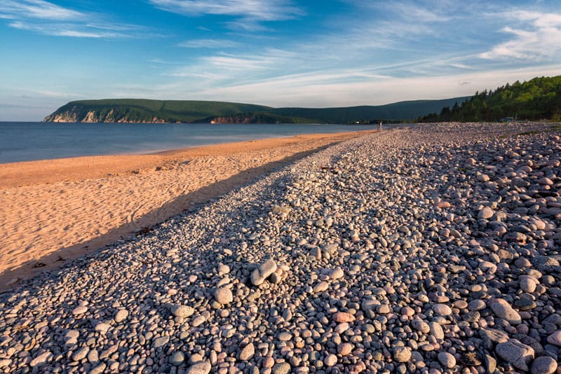 rock beach in Cape Breton Nova Scotia