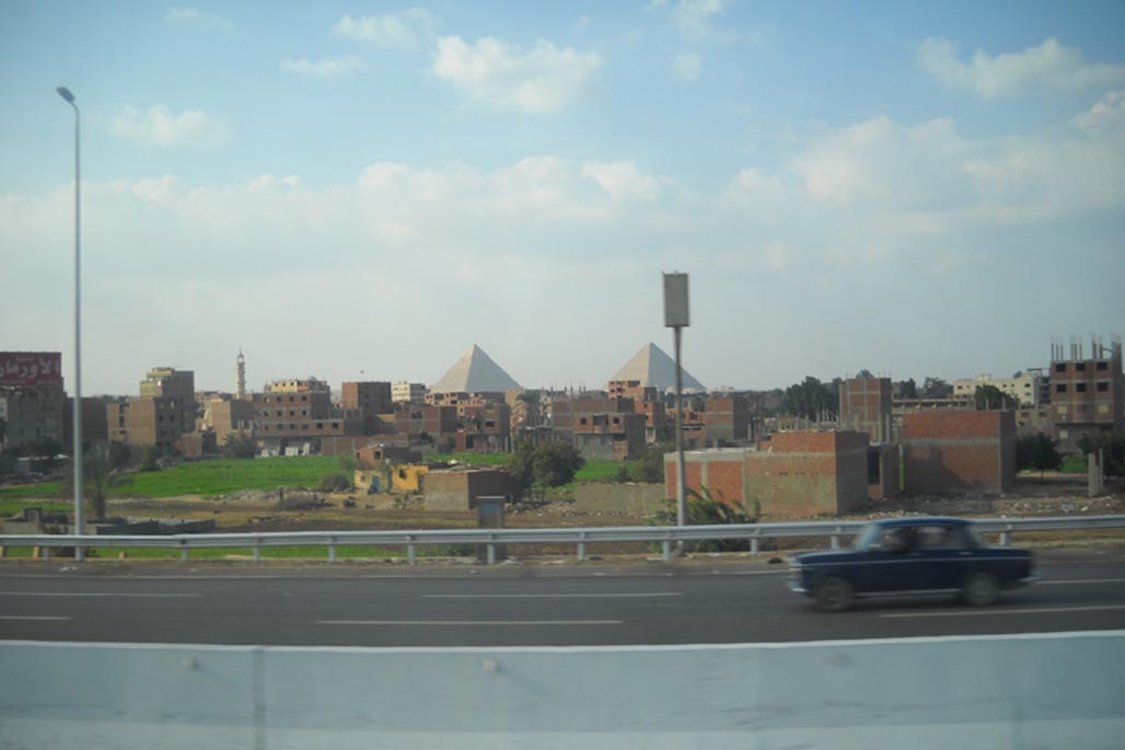 cairo egypt city with pyramids