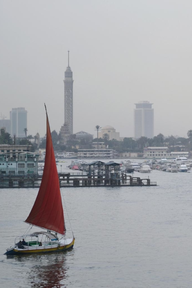 felucca downtown cairo on the nile