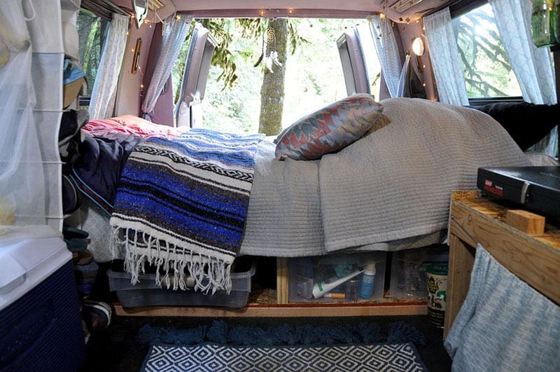 campervan hire interior